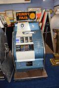 Vintage penny fair one armed bandit fruit machine, 79cm high
