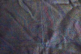 Large wool and silk Paisley shawl, 175 x 225cm