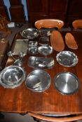 Lakeland Rural Industries Borrowdale, a collection of stainless steel and copper wares to include