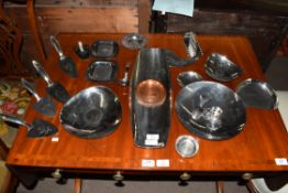 Keswick School of Industrial Art (KSIA), a collection of various metal wares to include Firth
