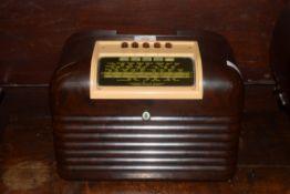 Bush brown Bakelite cased DAC 10 radio, 32cm wide