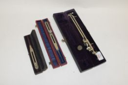 Mixed Lot comprising a Hall Harding Ltd cased map walker, together with a planimeter and a further