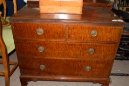 A Waring & Gillow chest of two short over two long drawers, width approx 92cm
