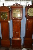 James Thorne, Colchester 18th century longcase clock, the brass dial with Roman and Arabic numerals,