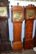 William Nash, Bridge, (Kent) 18th century oak cased longcase clock, the brass and silvered face with