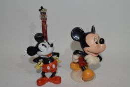 Toothbrush holder modelled as Mickey Mouse, stamped 'Genuine Walt Disney copyright' together with