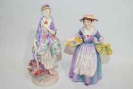 Two Royal Doulton figures of Phyllis and Daffy down Dilly (2) (a/f)
