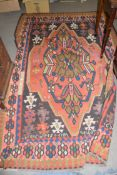 Modern Turkish Kilim decorated with large central medallion, 275 x 185cm, originally from The