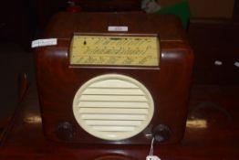 Bush Bakelite cased AC91 radio, 30cm wide
