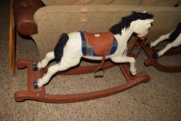 MODERN MOULDED PLASTIC CHILDS ROCKING HORSE, 55CM HIGH