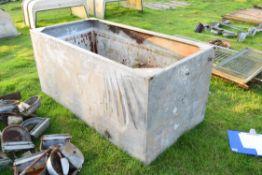 Large galvanised water tank, 182cm wide