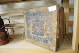 Vintage biscuit tin for Peek Frean & Co
