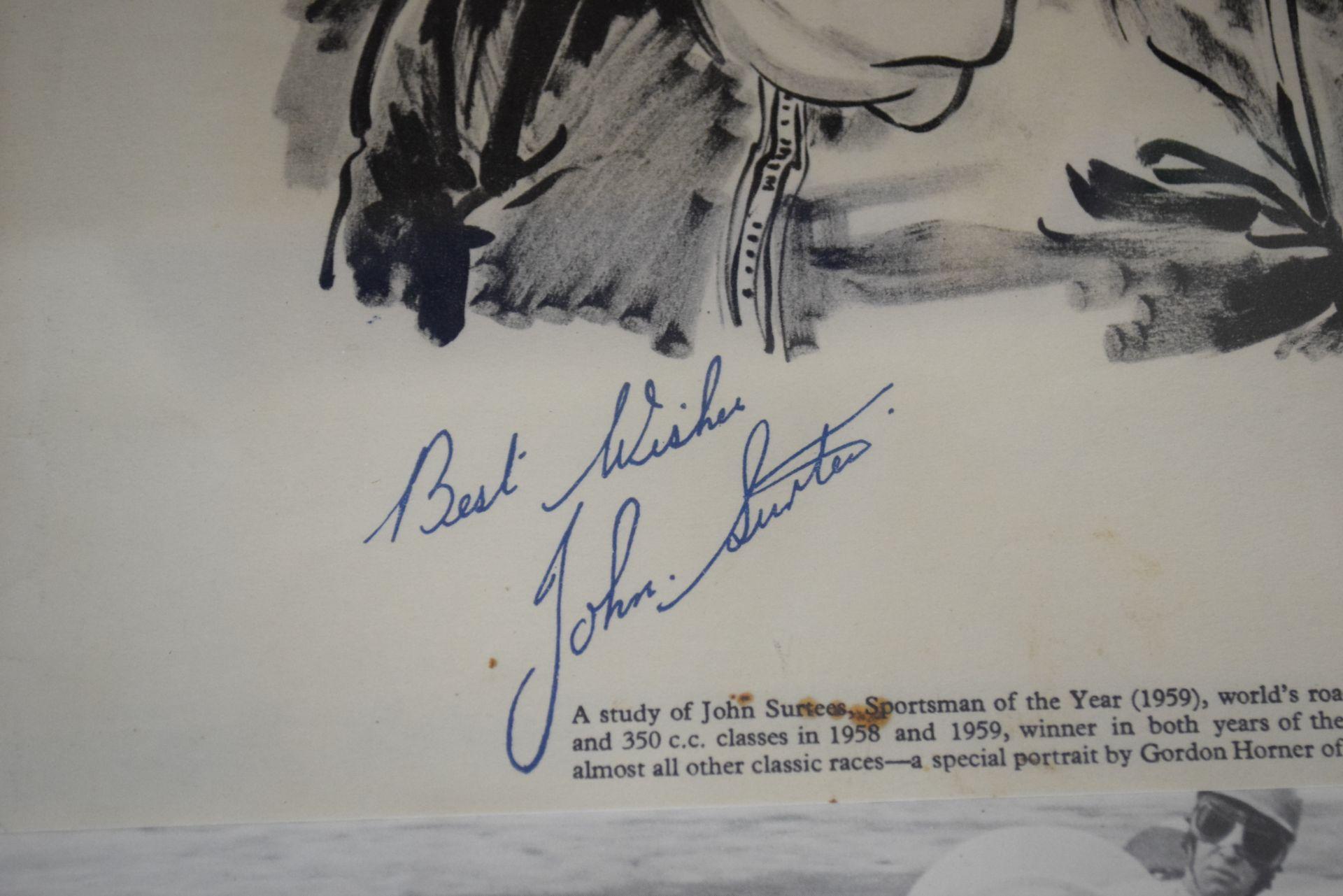 Print of John Surtees, Sportsman of the Year 1959 - Image 2 of 2