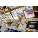 Large quantity of framed magazine advertising prints from The Autocar and The Motor magazines to