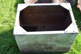 Small galvanised water tank