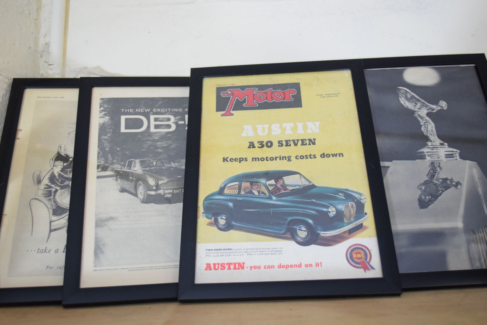 Quantity of framed advertising prints taken from The Autocar magazine - Image 3 of 3
