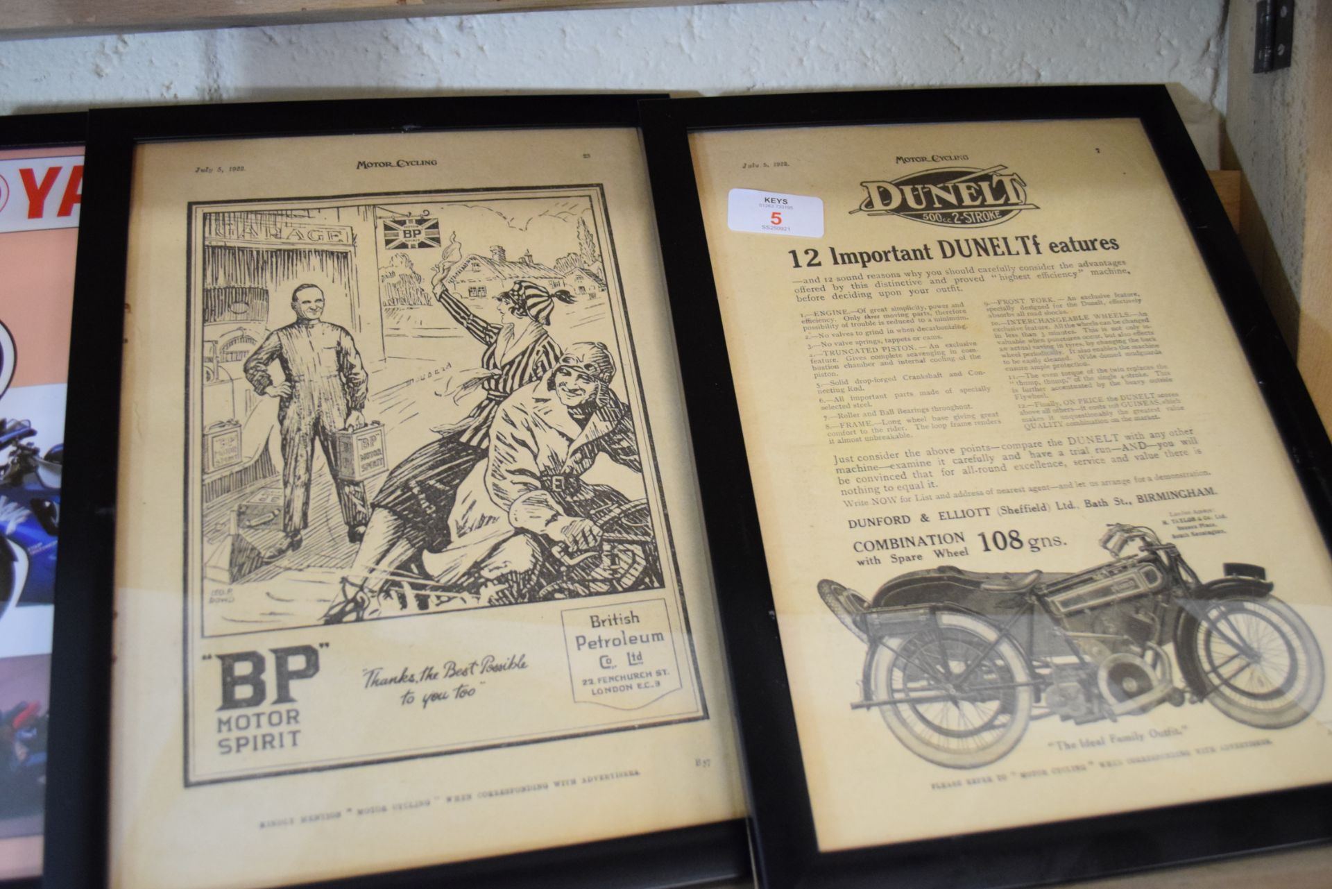 Quantity of framed advertising prints taken from a magazine for Yamaha motorbikes, BMC Service etc - Image 4 of 7