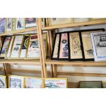 Quantity of framed advertising prints taken from a magazine for Yamaha motorbikes, BMC Service etc