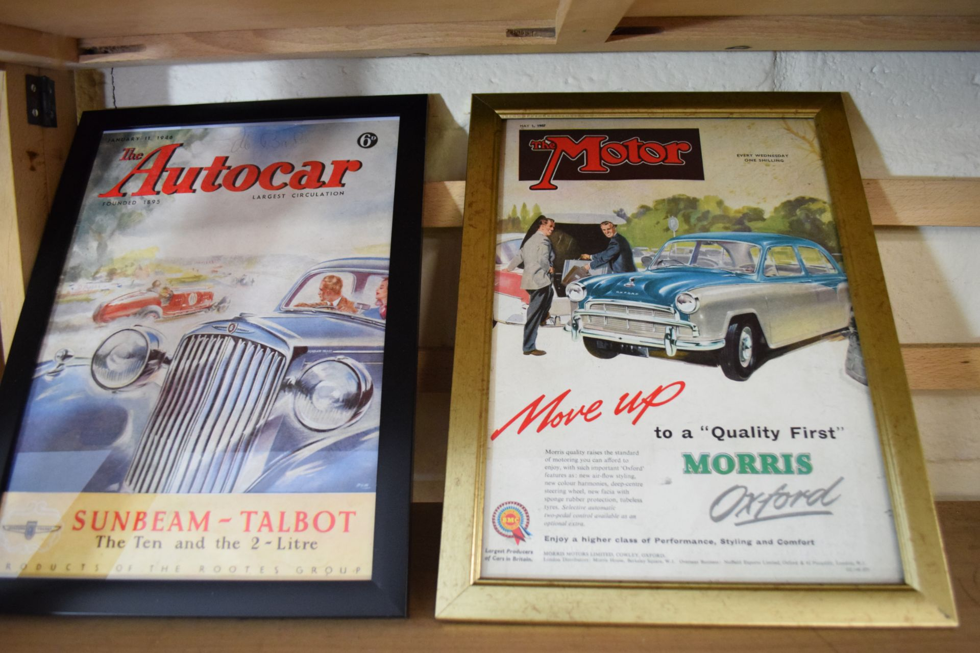 Quantity of framed advertising prints taken from a magazine for Yamaha motorbikes, BMC Service etc - Image 7 of 7