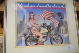 The Yankee Doodle Dandy advertising print for Suzuki motorcycles