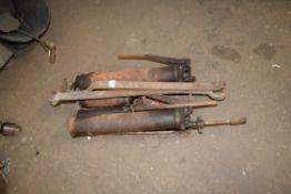 Various grease guns etc