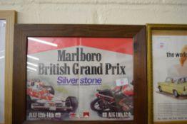 Framed advertising print for the Marlboro British Grand Prix at Silverstone