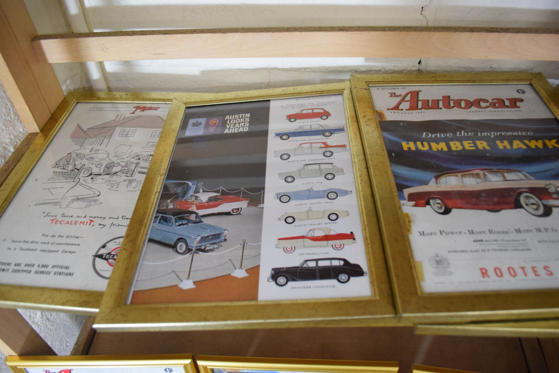 Quantity of framed magazine advertising prints from The Autocar magazine for MG and Morris cars - Image 3 of 3