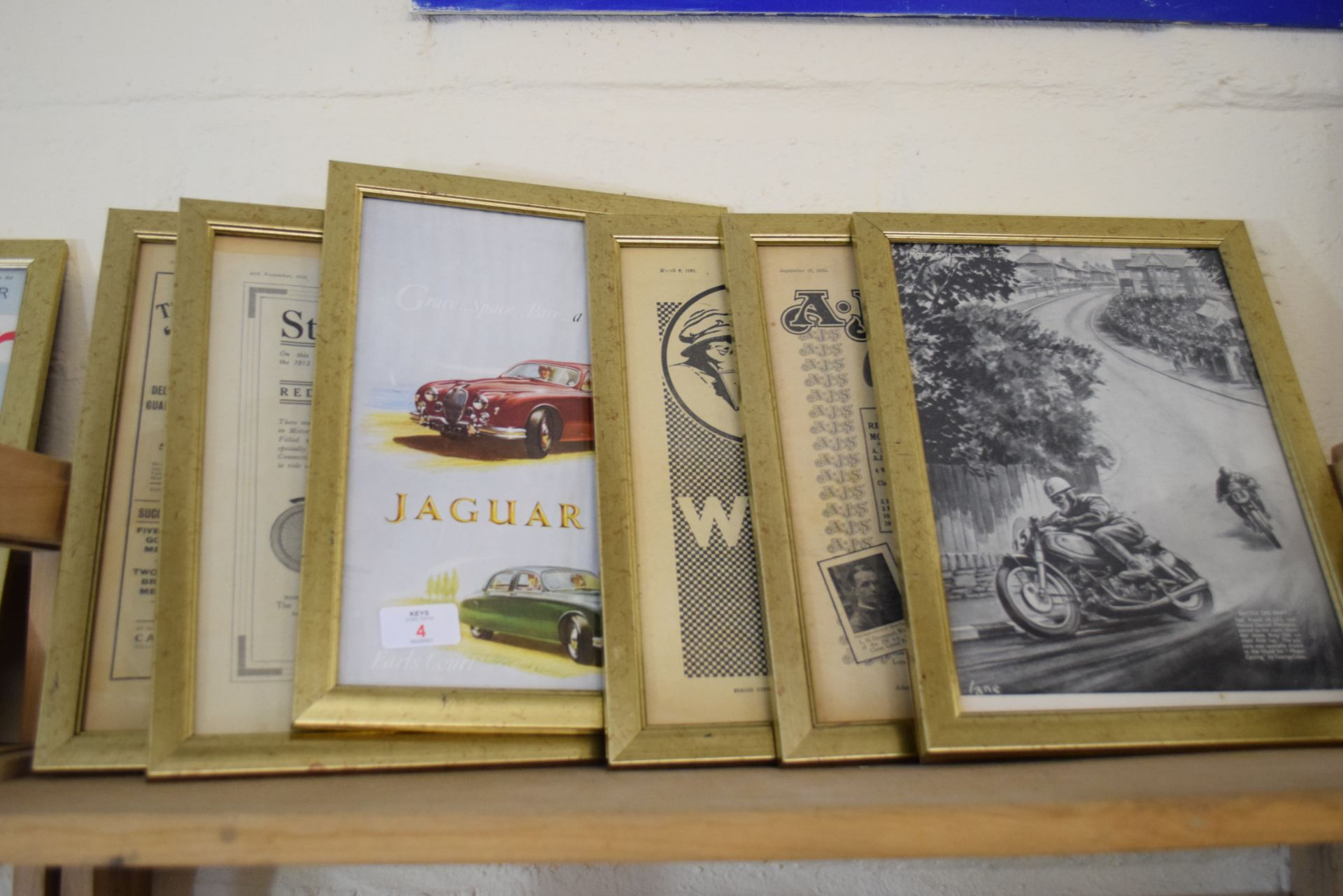 Quantity of framed advertising prints taken from a magazine on motorcycling - Image 2 of 5