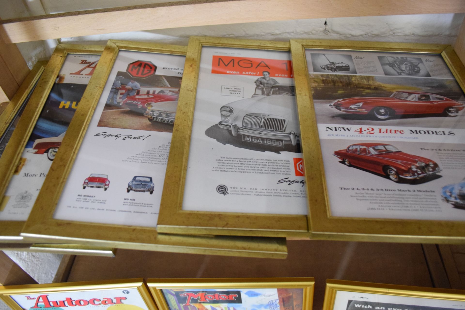 Quantity of framed magazine advertising prints from The Autocar magazine for MG and Morris cars - Image 2 of 3