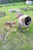 Electric cement mixer and stand