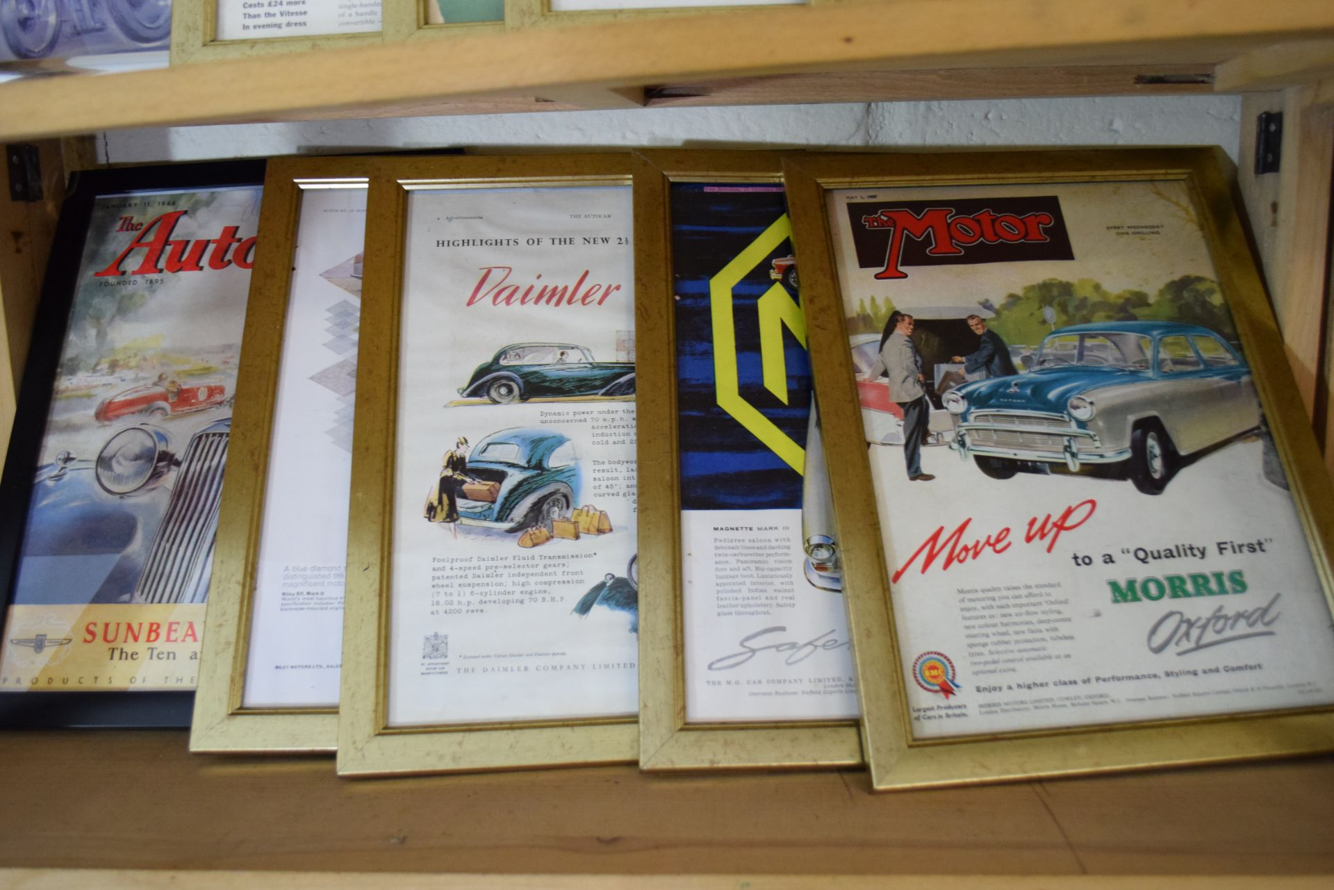 Quantity of framed advertising prints taken from a magazine for Yamaha motorbikes, BMC Service etc - Image 3 of 7