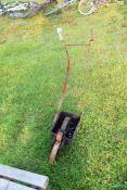 Vintage iron sportsfield line marker (a/f)