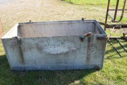 Galvanised water tank extension for previous water cart