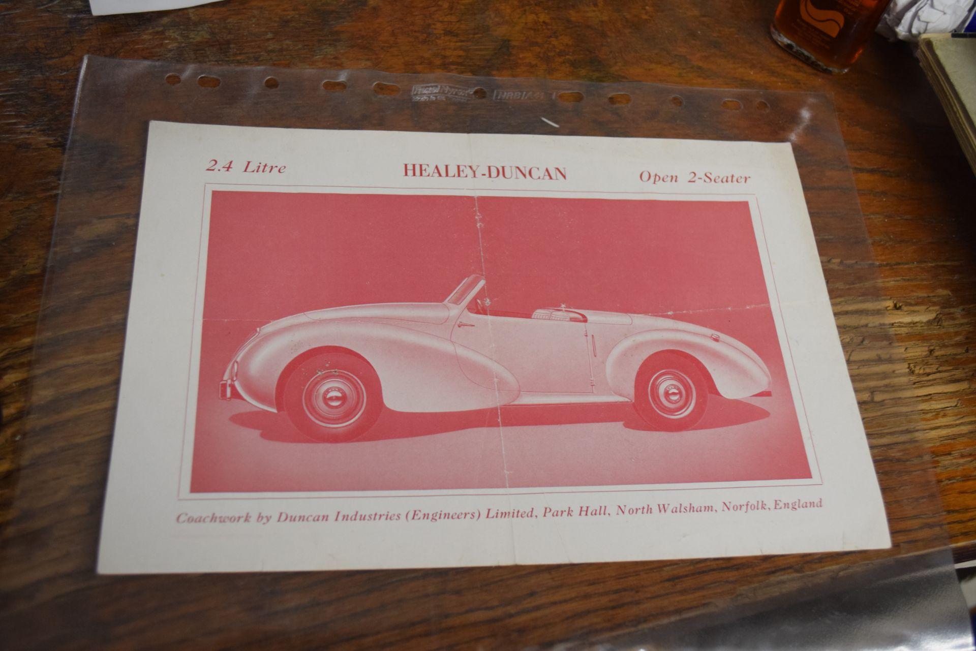 Healey Duncan Sales leaflet