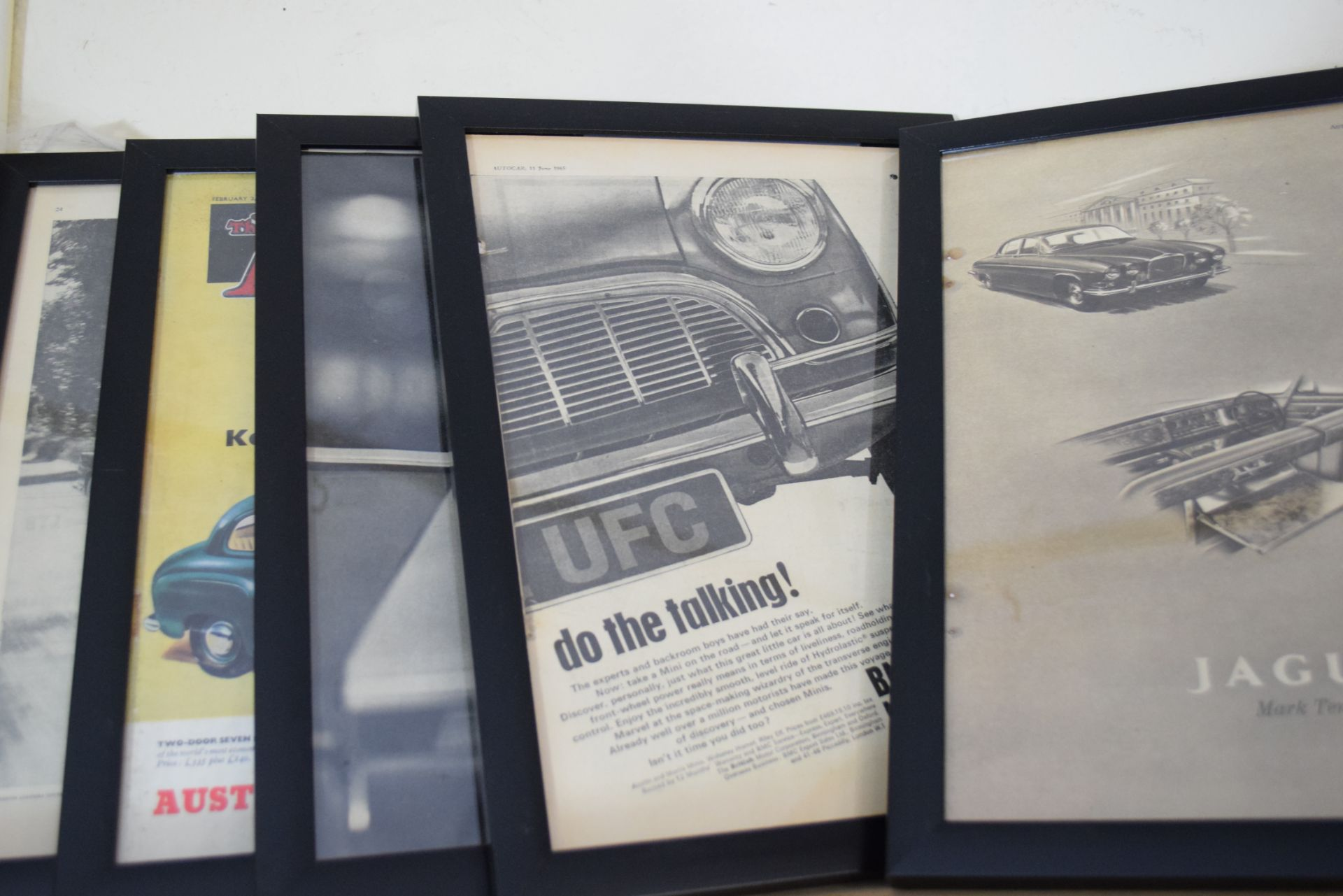 Quantity of framed advertising prints taken from The Autocar magazine - Image 2 of 3