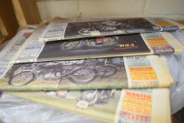 Quantity of old bike mart magazines, newspapers