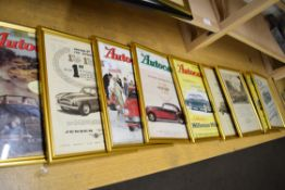Quantity of motoring advertising prints from The Autocar magazine