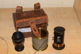 J H Steward, Strand, London, Patent Telemeter, The Steward No 512 in fitted leather travel case,