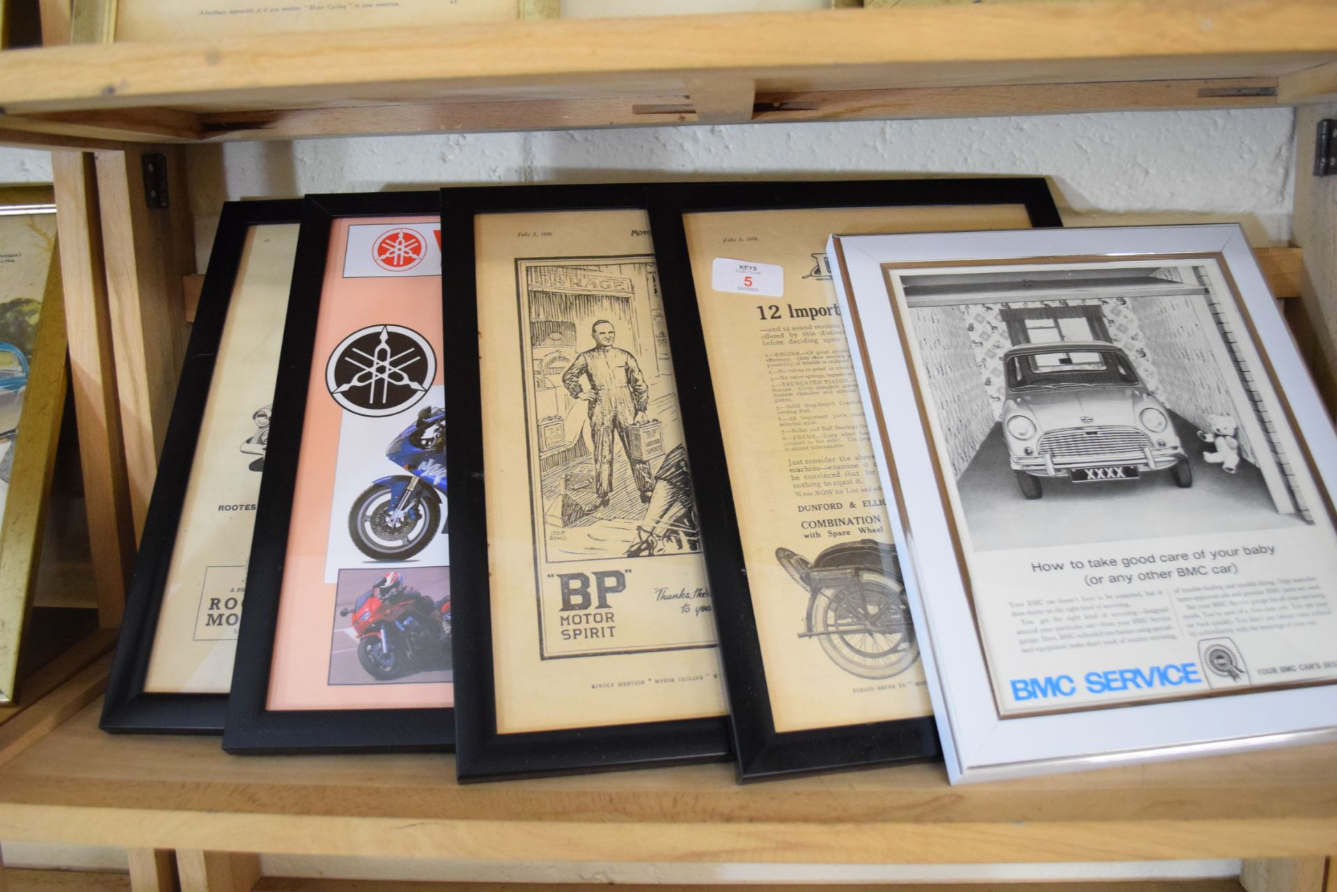 Quantity of framed advertising prints taken from a magazine for Yamaha motorbikes, BMC Service etc - Image 2 of 7