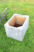Small galvanised water tank, 60cm wide