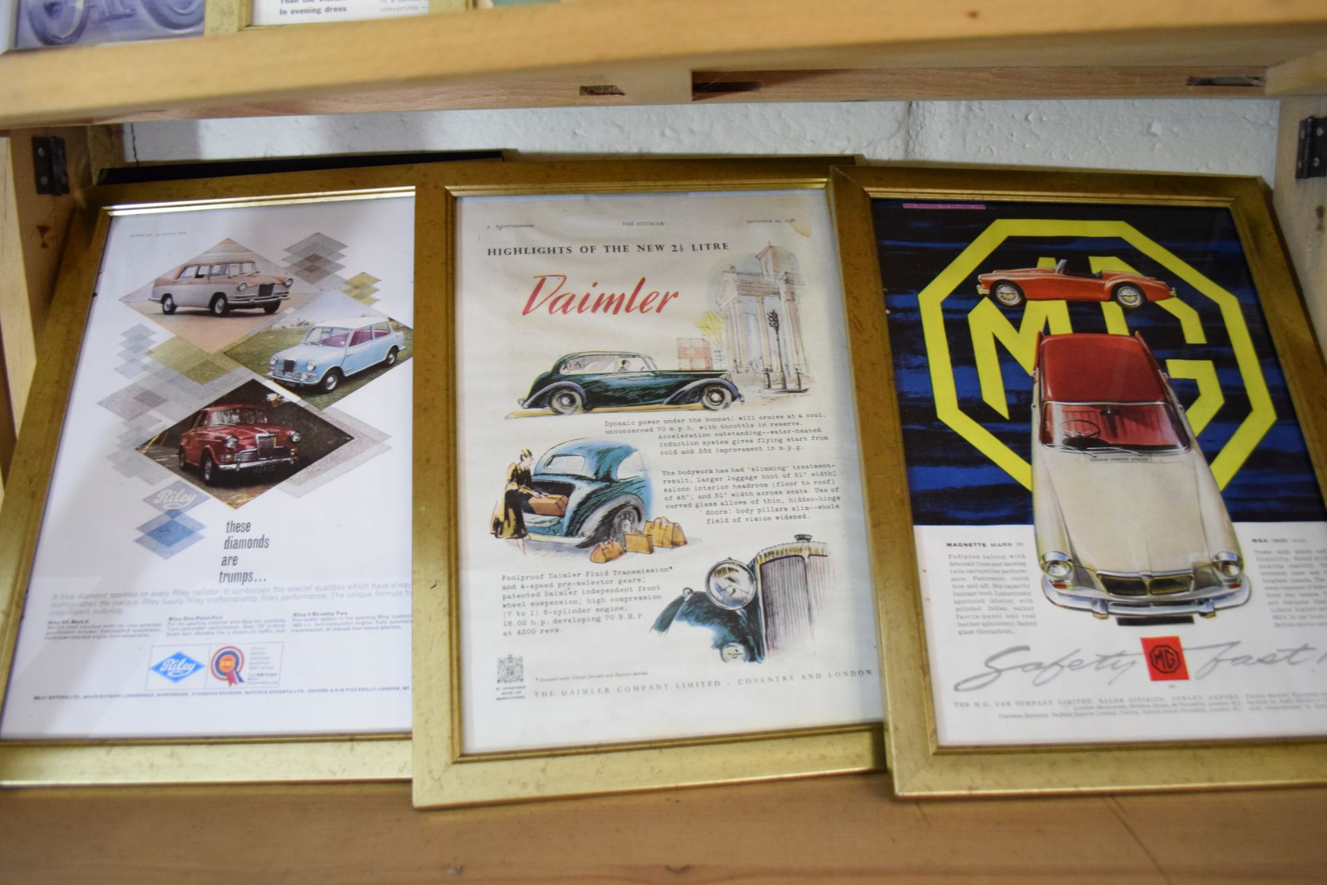 Quantity of framed advertising prints taken from a magazine for Yamaha motorbikes, BMC Service etc - Image 6 of 7