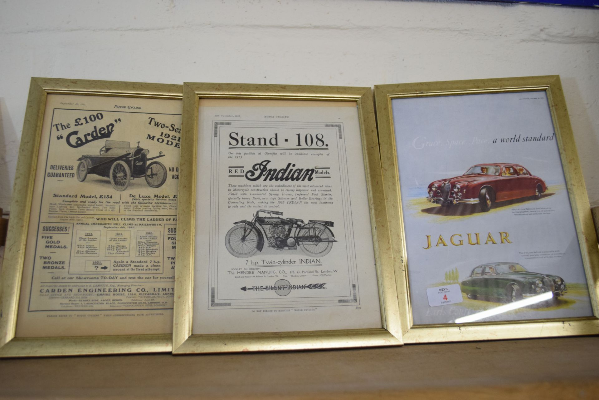 Quantity of framed advertising prints taken from a magazine on motorcycling - Image 4 of 5