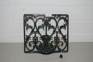 TWO CAST IRON BOOKSTANDS