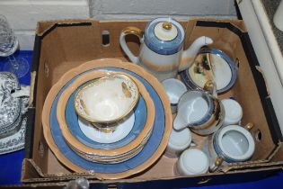 QTY OF JAPANESE LUSTRE FINISH TEA WARES TOGETHER WITH A SMALL FIELDINGS CROWN DEVON LUSTRE