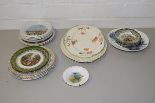 MIXED LOT OF DECORATED PLATES