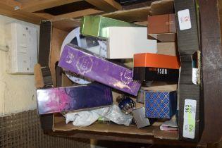 BOX OF PERFUME AND COSMETICS