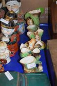 COLLECTION OF HORNSEA AND WITHERNSEA POTTERY VASES DECORATED WITH ANIMALS