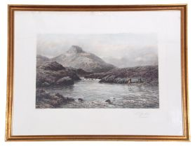 After Douglas Adams (British, 19th century), 'A Tight Line', Photogravure, printed in colour 1902,