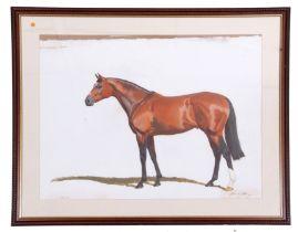 Michael Jeffery (New Zealand /British 20C), 'Galileo', Derby Winner, 2001, oil, pencil laid on