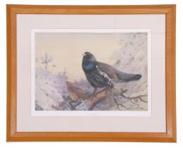 Archibald Thorburn (British 19C), 'Winter in the Glen' , limited edition giclee print, 17 x 23ins